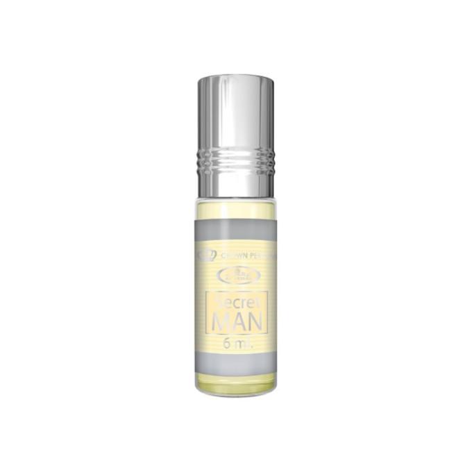Secret Man - Musc Sans Alcool - Concentré de Parfums Bille 6ml - Al Rehab