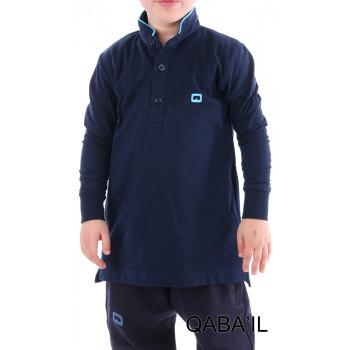 Polo Manche Longue - Junior - Bleu Nuit - Qaba'il - 151