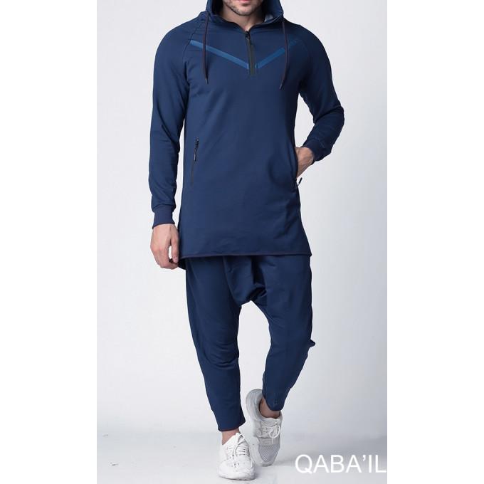 Ensemble Qamis Court LEGEND NEO - Bleu Indigo - Qaba'il - 6269