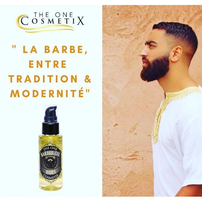 Barber Oil - BOIS - Huiles 100% Naturelles - Argan, Jojoba, Ricin - The One - 50 ml - 4760