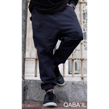 Sarouel Pants bleu nuit Qaba'il : coupe djazairi
