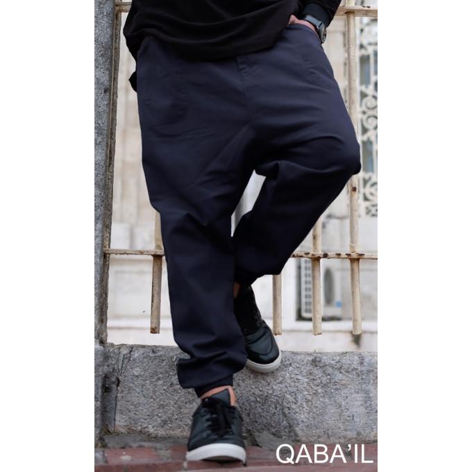 Saroual Pants - Bleu Nuit - Coupe Djazairi - Qaba'il