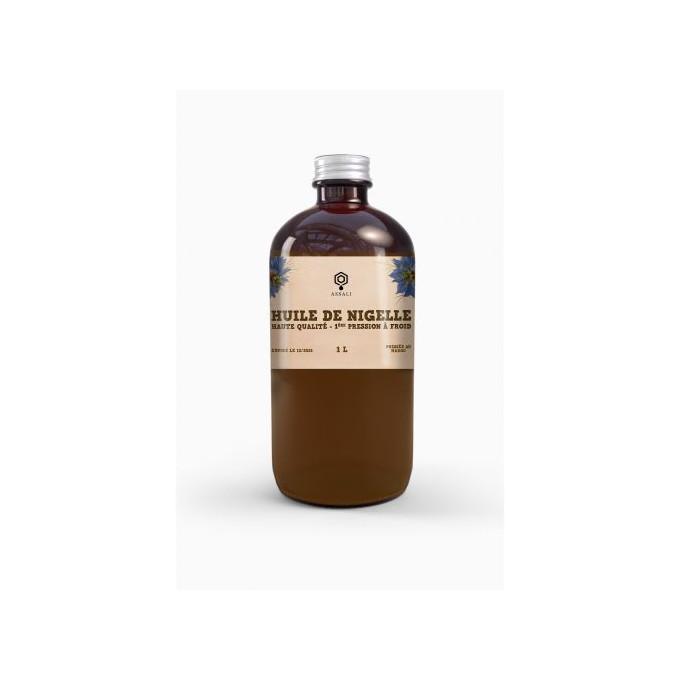 Huile de Nigelle - Habba Saouda - 1ère Pressée à Froid - 1 litre - Assali