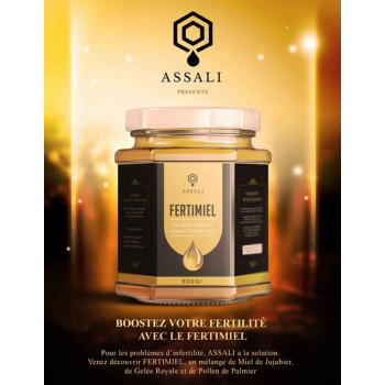 Fertimiel - Remède Naturel Contre Infertilité - Miel du Maroc - Assali - 500 gr