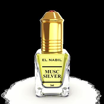 Musc Silver - Parfum : Homme - Extrait de Parfum Sans Alcool - El Nabil - 5 ml