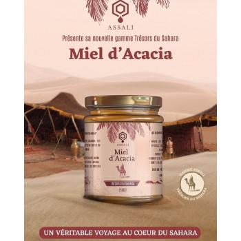 Miel d'Acacia - Miel du Maroc - Trésors du Sahara - Assali - 250 gr