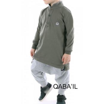 Polo manches longues kaki Qaba'il : junior