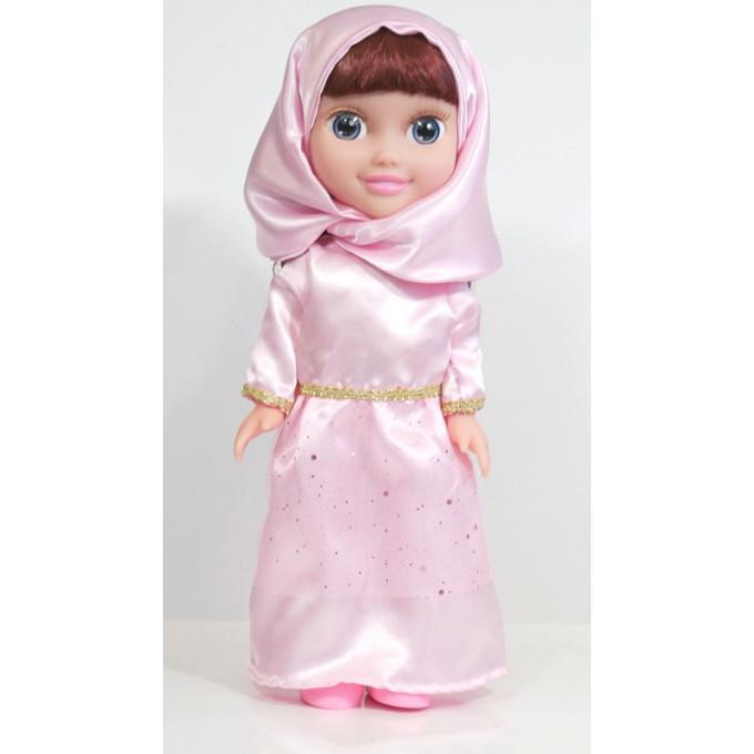 Poupée Musulmane - Chifa Parlante - Robe Rose - 3ans+