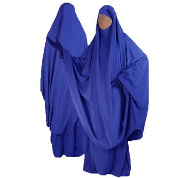 Jilbab Bleu Roi - 2P Cape+Jupe - N29 - Jilbeb Al Manassik
