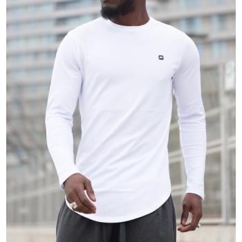 Sweat-Shirt Léger Blanc Manches Longues Qaba il