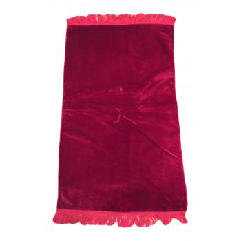 Tapis De Prière Adulte - Couleur Bordeaux Unie Sans Motifs - 67 x 118 cm