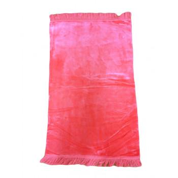 Tapis De Prière Adulte - Couleur Rose Unie Sans Motifs - 67 x 118 cm