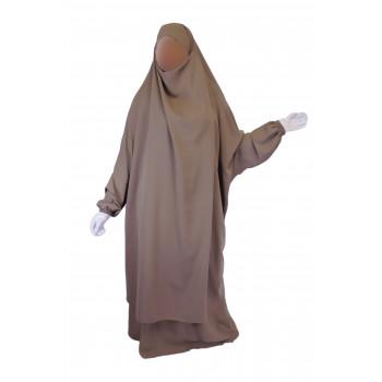 Jilbab 2P Jupe - Beige Taupe 11 - Wool Peach - Jilbeb El Bassira - 3856-B