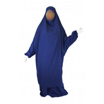 Jilbab 2P Jupe - Bleu Roi 91 - Wool Peach - Jilbeb El Bassira - 3012-B