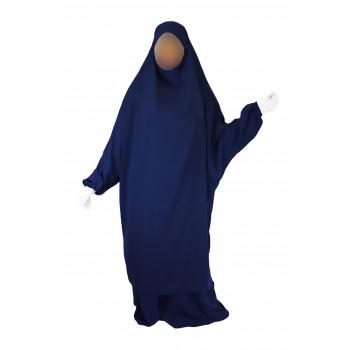 Jilbab 2P Jupe - Bleu Foncé 29 - Wool Peach - Jilbeb El Bassira - 4979-B