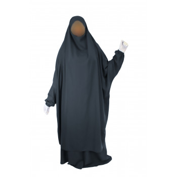 Jilbab 2P Jupe - Gris Anthracite 42 - Wool Peach - Jilbeb El Bassira - 5641-B