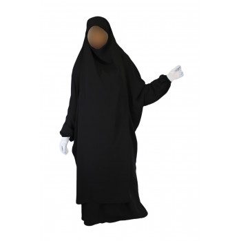 Jilbab 2P Jupe - Noir 1 - Caviary - Jilbeb El Bassira - 4818-B