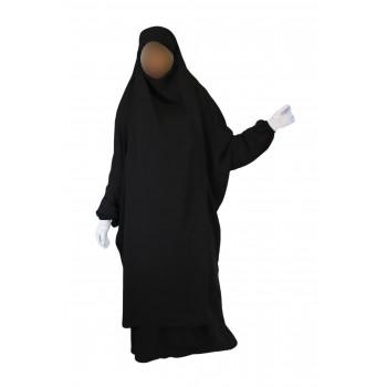 Jilbab 2P Jupe - Noir 1 - Koshibo Lèger - Jilbeb El Bassira - 3007-B