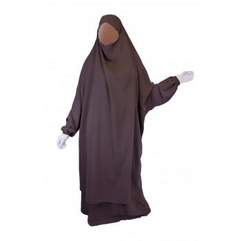 Jilbab 2P Jupe - Lila Foncé 15 - Wool Peach - Jilbeb El Bassira - 4980-B