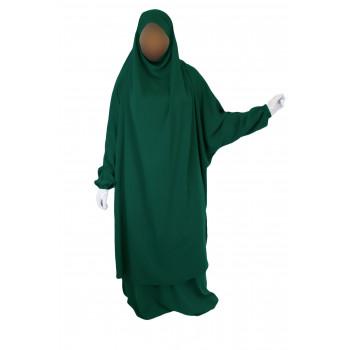 Jilbab 2P Jupe - Vert Menthe 32 - Wool Peach - Jilbeb El Bassira - 6647-B