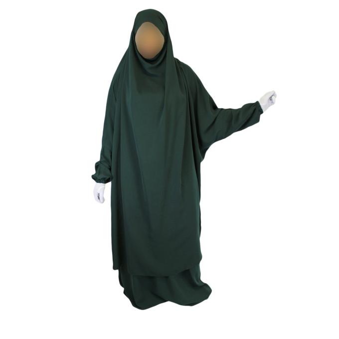 Jilbab 2P Jupe - Vert Sapin 33 - Caviary - Jilbeb El Bassira - 6648-B