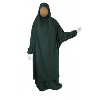 Jilbab 2P Jupe - Vert Sapin 57 - Wool Peach - Jilbeb El Bassira - 6649-B
