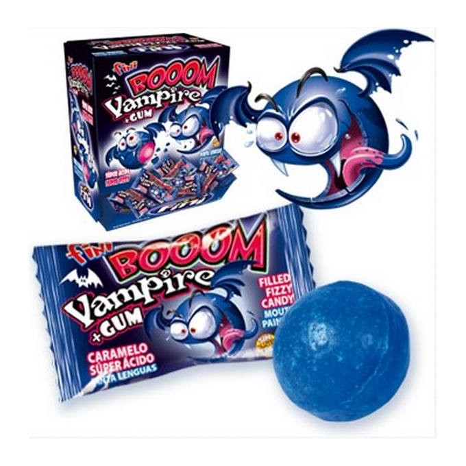 Bonbons - Booom Vampire + Gum - Bubble Gum - Fini - Halal