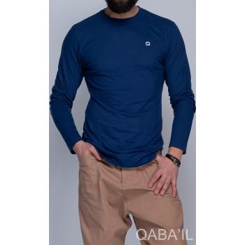 Sweat-Shirt Léger Indigo Manches Longues Qaba il