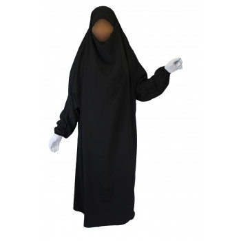 Jilbab une piece noir El Bassira