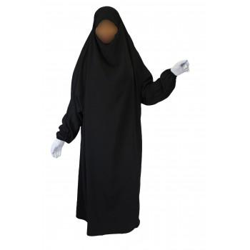 Jilbab 1P - Noir 1 - Caviary - Jilbeb El Bassira - 4841-B