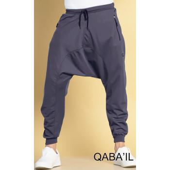 Sarouel jogging gris bleu Qaba'il : léger - 3024