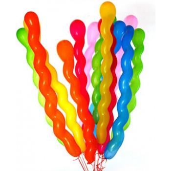 10 Ballons Multicolores - Forme Spirales - Français / Arabe