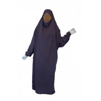 Jilbab 1P - Lila Anthracite 15 - Wool Peach - Jilbeb El Bassira - 5457-B