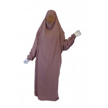 Jilbab 1P - Rose Terracotta 7 - Wool Peach - Jilbeb El Bassira - 6767-B