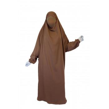 Jilbab 1P - Camel Foncé 5 - Wool Peach - Jilbeb El Bassira - 4995-B