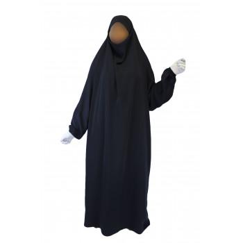 Jilbab 1P - Bleu Nuit 95 - Wool Peach - Jilbeb El Bassira - 5453-B
