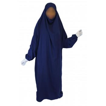 Jilbab 1P - Bleu Roi 26 - Koshibo Léger - Jilbeb El Bassira - 3028-B