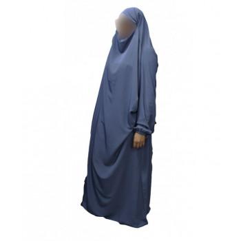 Jilbab 1P - Bleu Pétrole 22 - Wool Peach - Jilbeb El Bassira - 5455-B