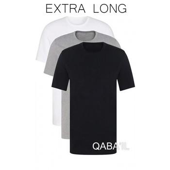 Pack 3 T-Shirt - Noir Blanc Gris - Manches Courtes - Qaba'il - 6201