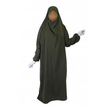 Jilbab 1P - Kaki 38 - Wool Peach - Jilbeb El Bassira - 4992-B