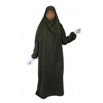 Jilbab 1P - Kaki 52 - Wool Peach - Jilbeb El Bassira - 6799-B