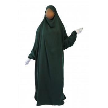 Jilbab 1P - Vert Sapin 33 - Caviary - Jilbeb El Bassira - 6617-B