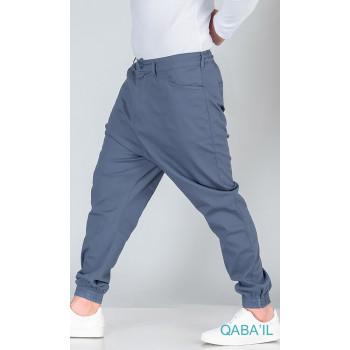 Saroual Pants Léger - Bleu - Coupe Djazairi - Qaba'il