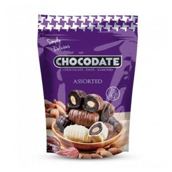 Datte Enrobé de Chocolat avec une Amande - Différent Assoritement - Chocodate - 100gr