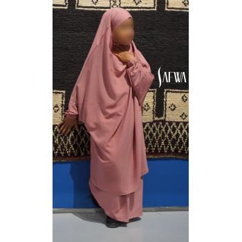 Jilbab Enfant - Rose Bonbon - Safwa