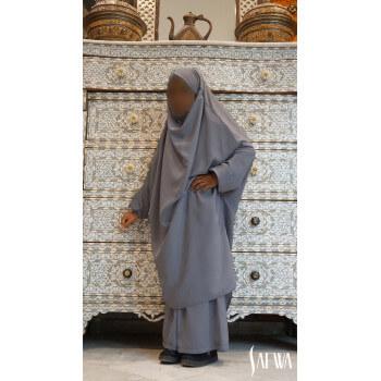 Jilbab Enfant - Gris Foncé - Safwa