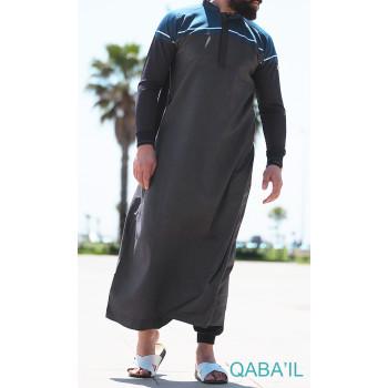 Qamis Long Classic II - Anthracite - Qaba'il