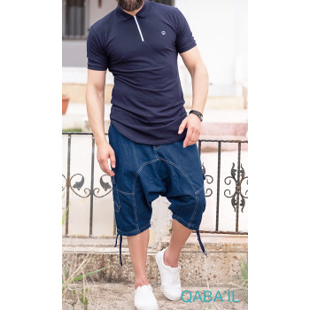 Sarouel Short Jeans - Bleu Brut - Qaba il - 2813