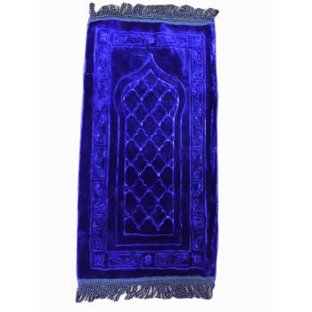 Bleu Foncé - Tapis de Prière avec Motif Classic - Enfant - 34 x 72 cm