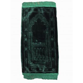 Vert - Tapis de Prière avec Motif Mirhab - Enfant - 34 x 72 cm